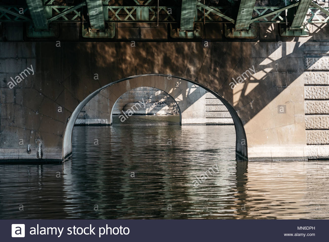 View under the bridge on river Transportation wallpaper 1300x957