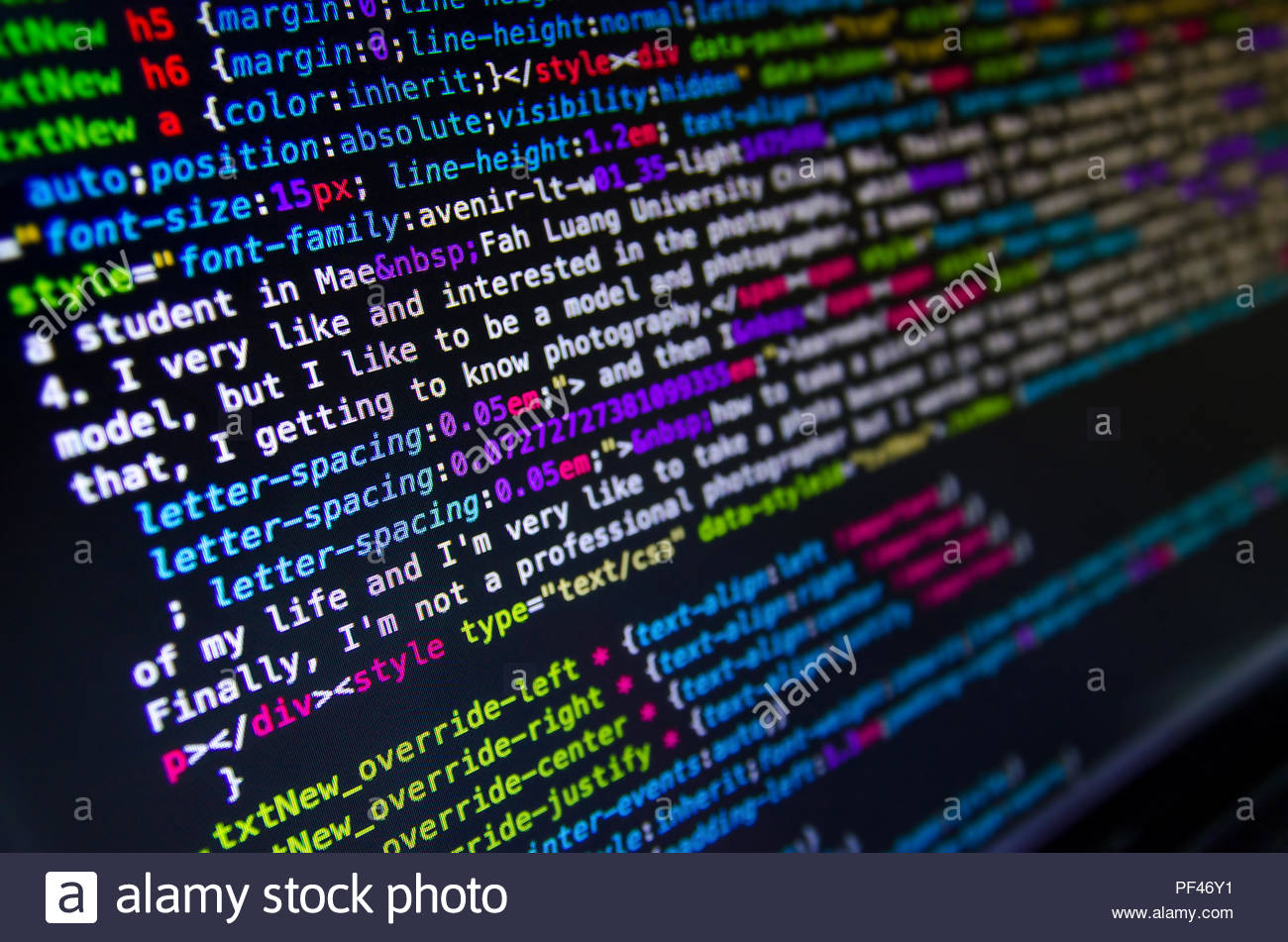 Desktop source code and technology background Developer or 1300x951