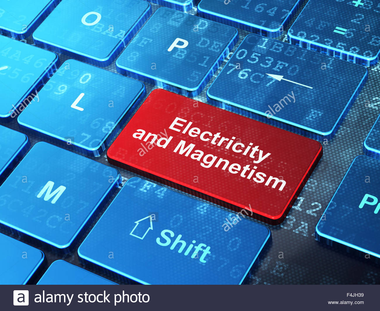 Science concept Electricity And Magnetism on computer keyboard 1300x1065