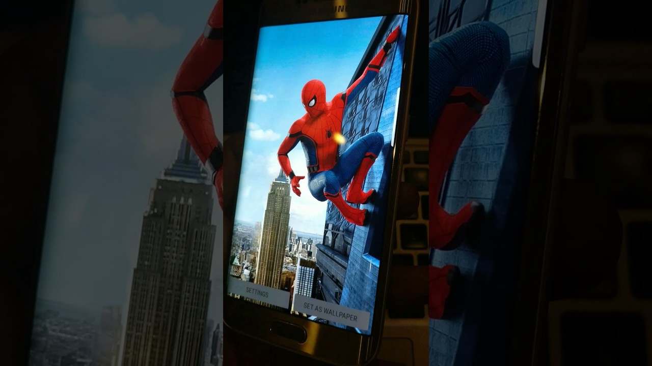 47 Moving Spider Man Homecoming Wallpaper On Wallpapersafari