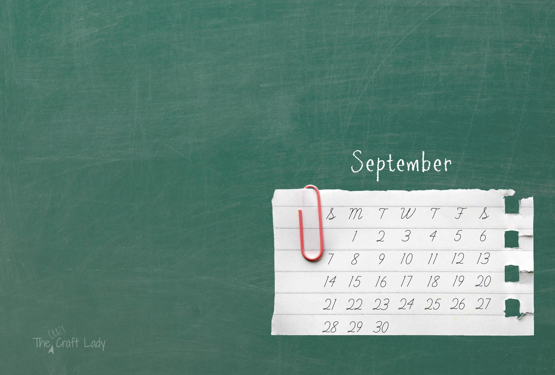 September 2014 Desktop Background   Back to School 3000x2025