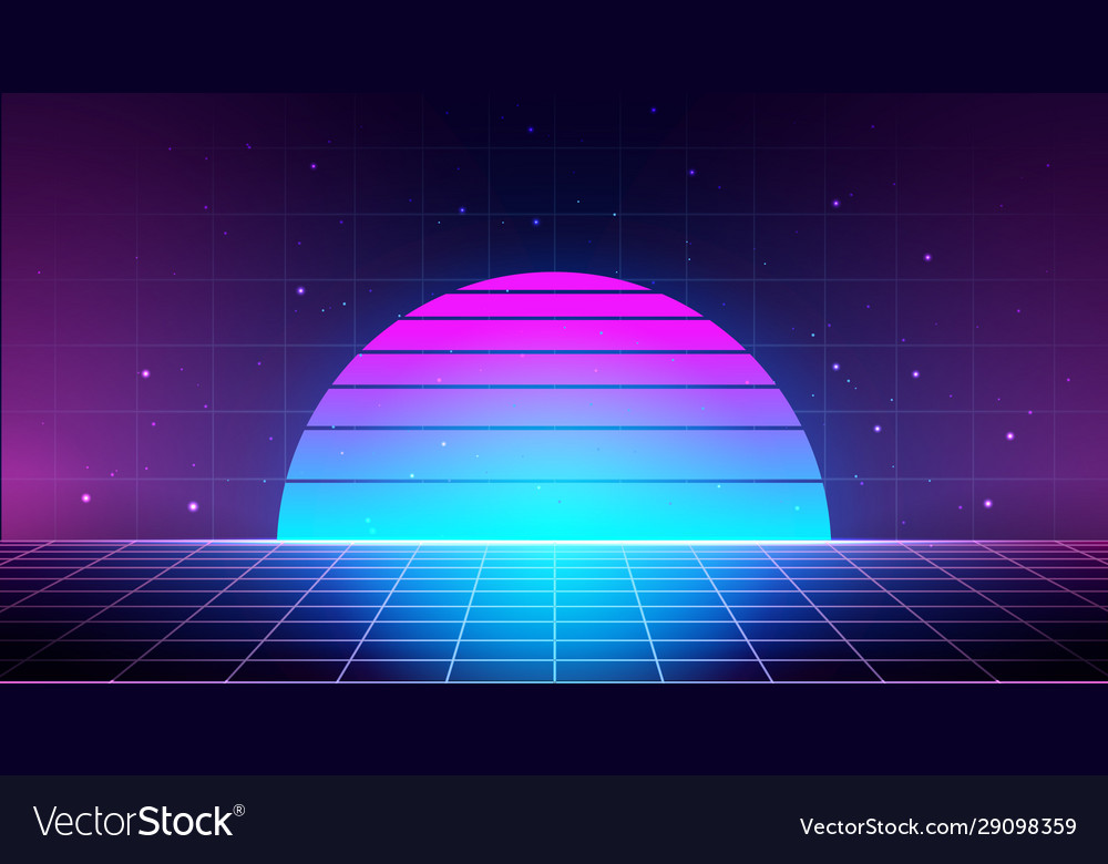 Retro background with laser grid abstract Vector Image 1000x780