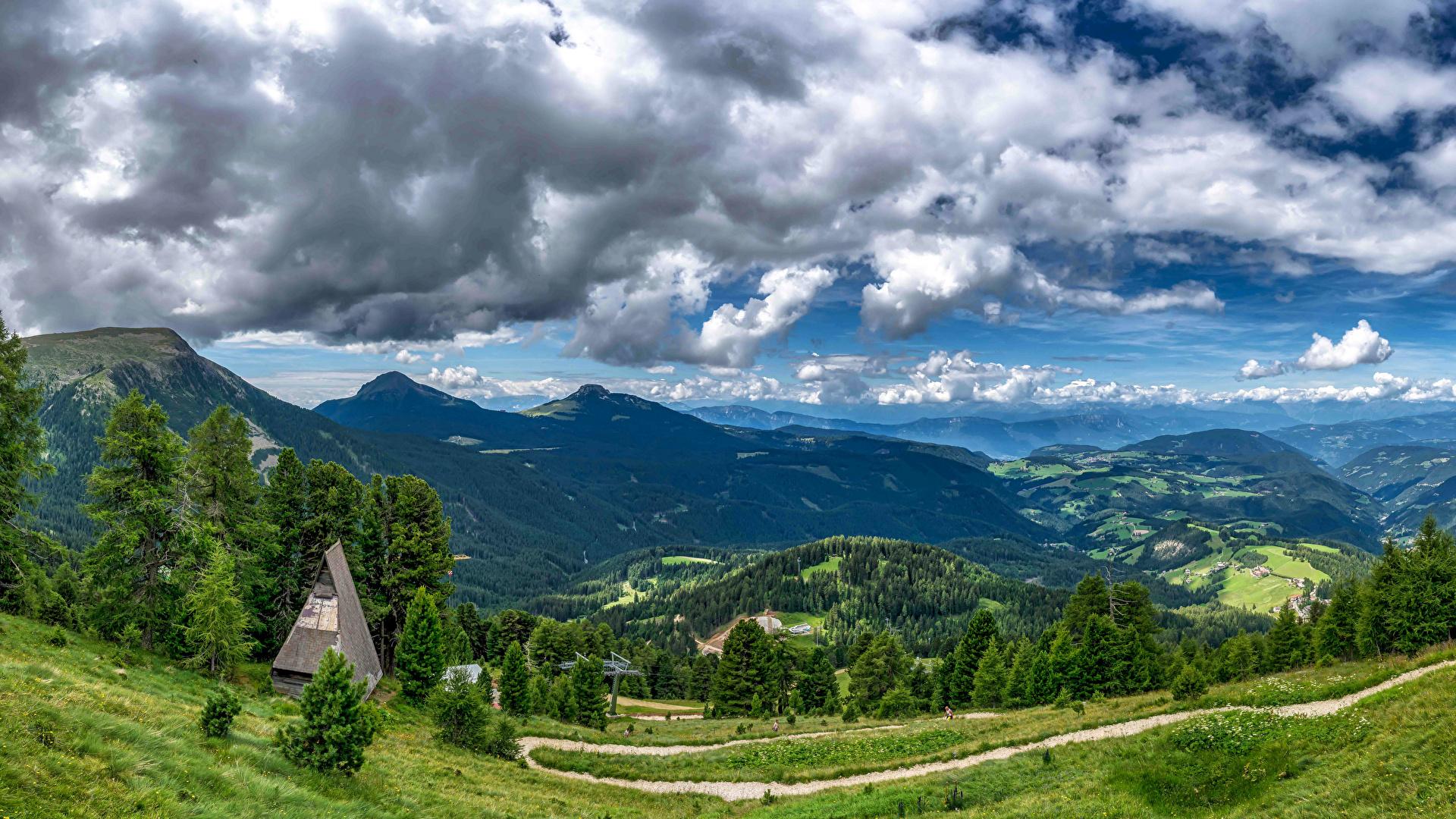 Photo Italy Bolzano Nature Mountains Sky Scenery Trees 1920x1080 1920x1080