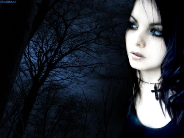 Emo Girl Black Desktop Backgrounds 624x468