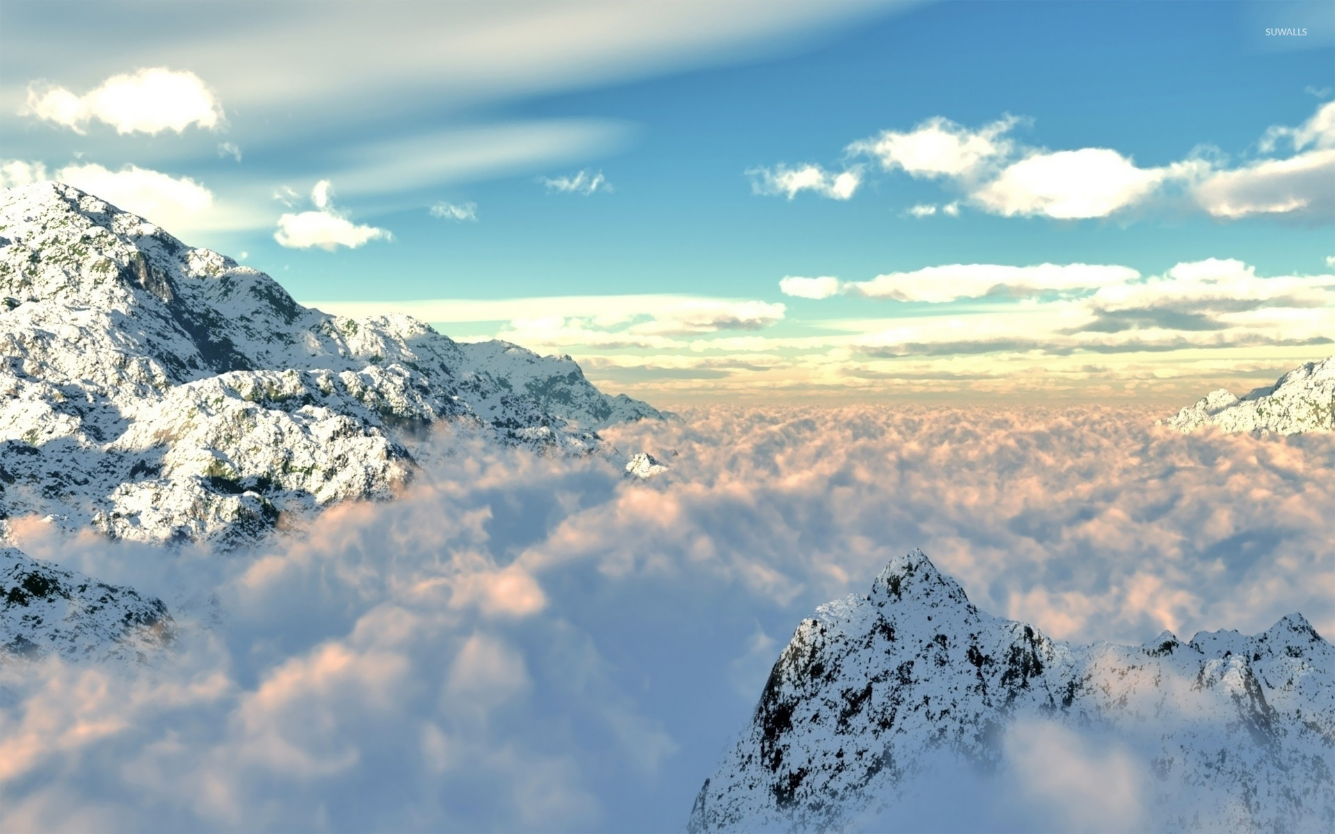 Clouds in the mountains wallpaper   Nature wallpapers   17834 1920x1200