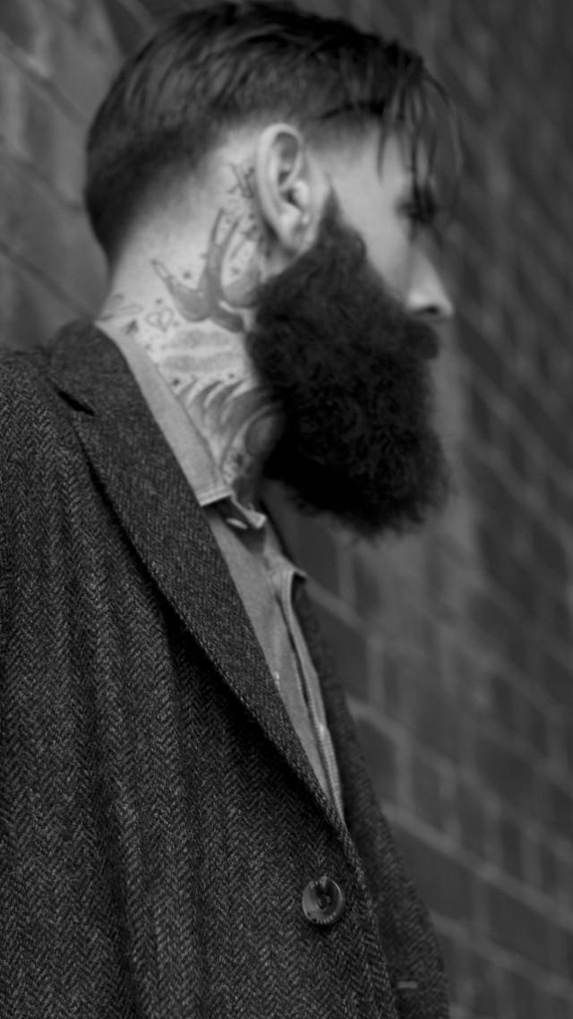 Wallpaper Ricki Hall model actor old school tattoo swallow 640x1138