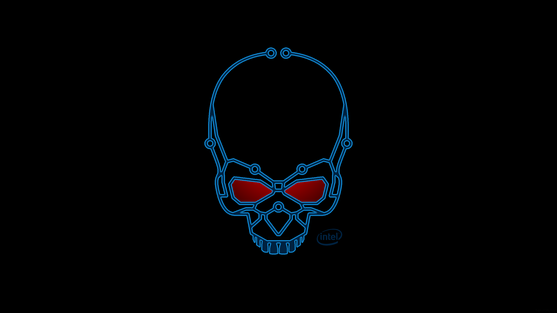 2011 2015 euphoricallydead intel skull logo fan art wallpaper intel 1920x1080