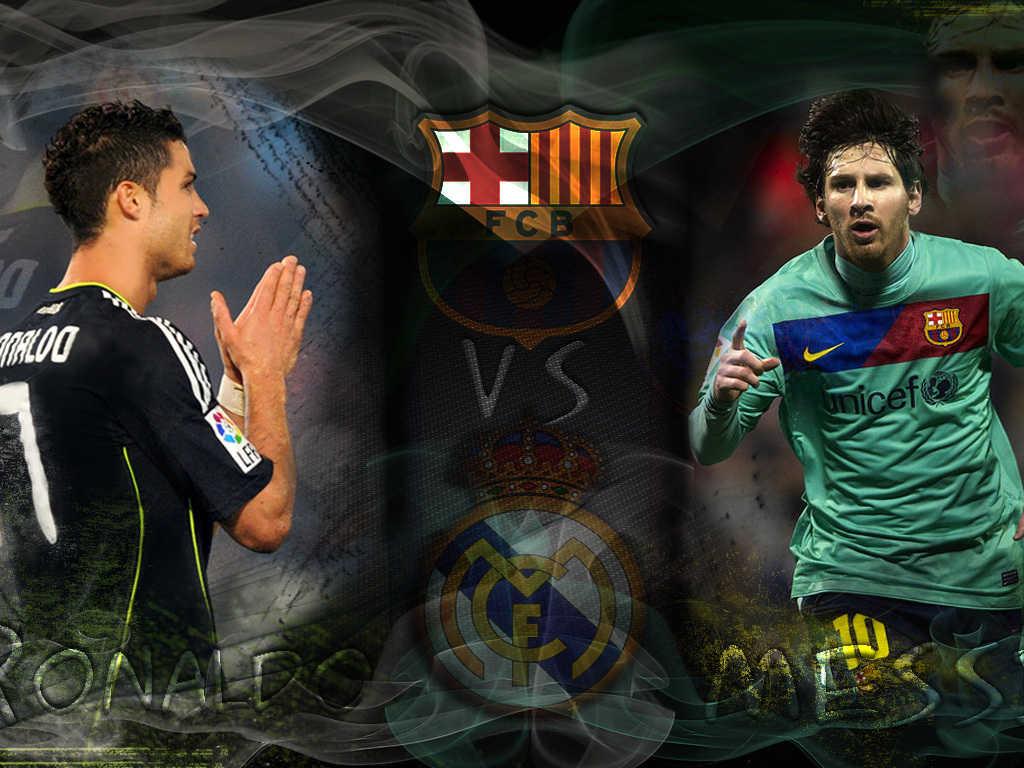 Cristiano Ronaldo vs Lionel Messi Wallpapers 2012 2013 1024x768
