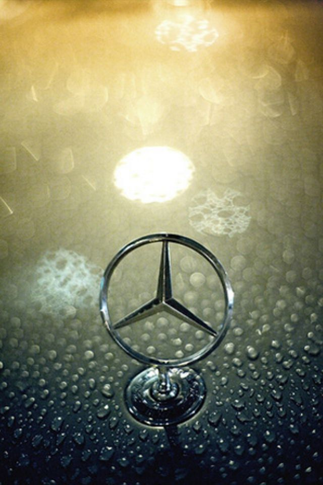 Mercedes Benz Logo iPhone Wallpaper HD 640x960