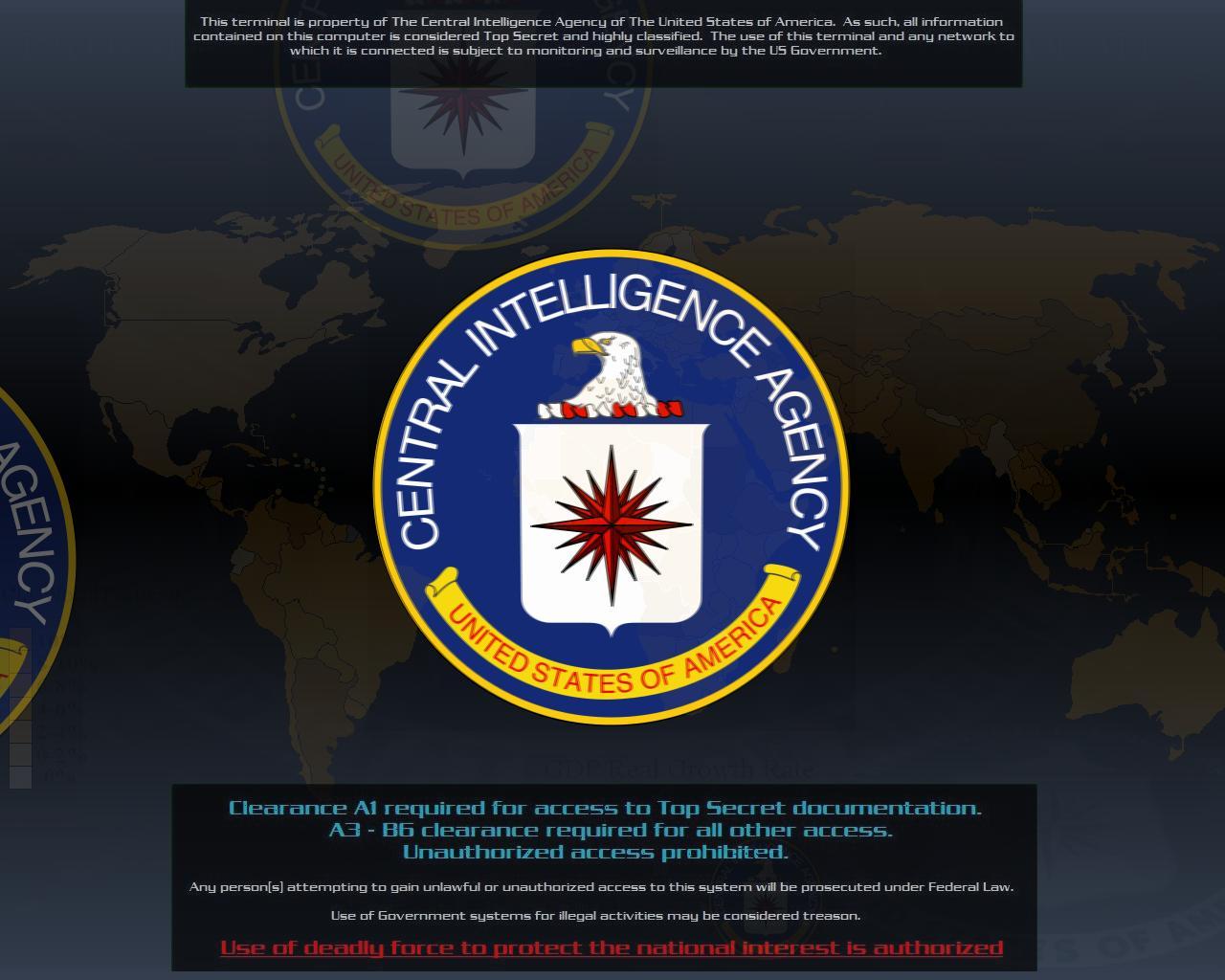 CIA Logo Wallpaper httpprofetdeviantartcomartCIA Screen Saver 1280x1024