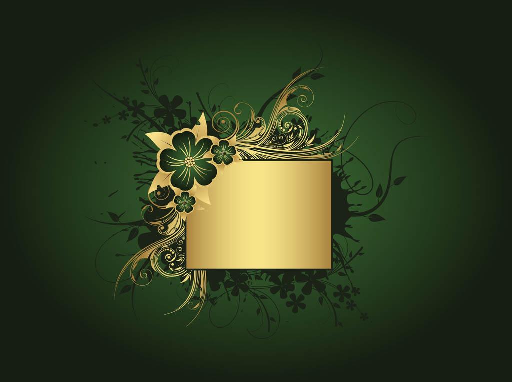 Gold And Green Wallpaper Wallpapersafari