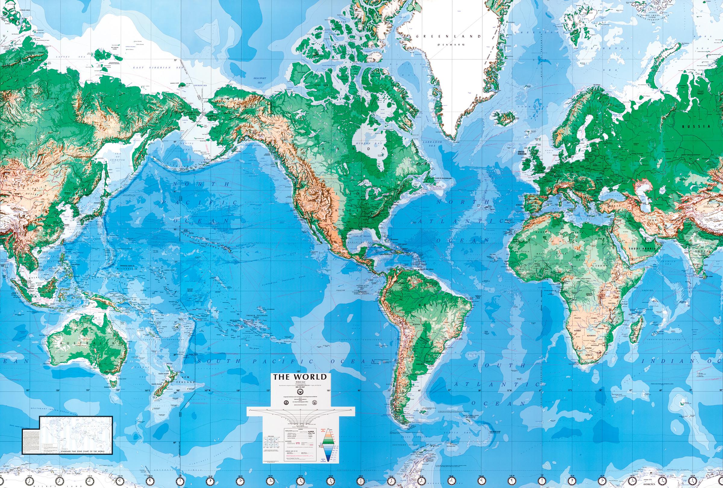 World Map Wall Mural 2400x1622