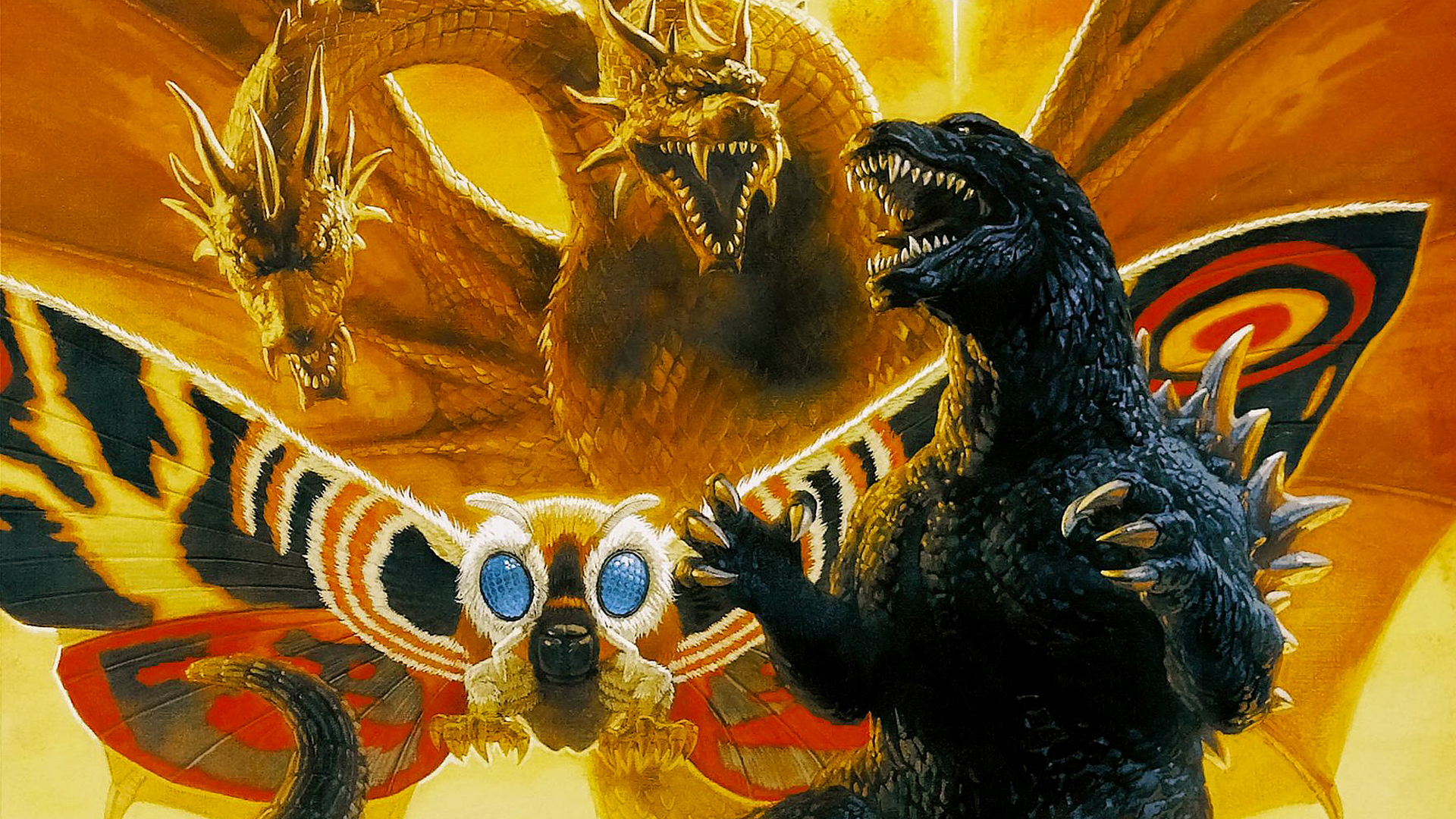 Godzilla Mothra and King Ghidorah Wallpaper   Godzilla Wallpaper 1920x1080
