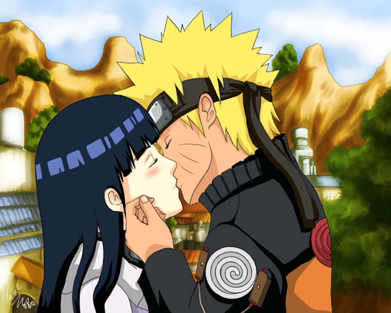 NaruHina Naruto and Hinata 1280x1024