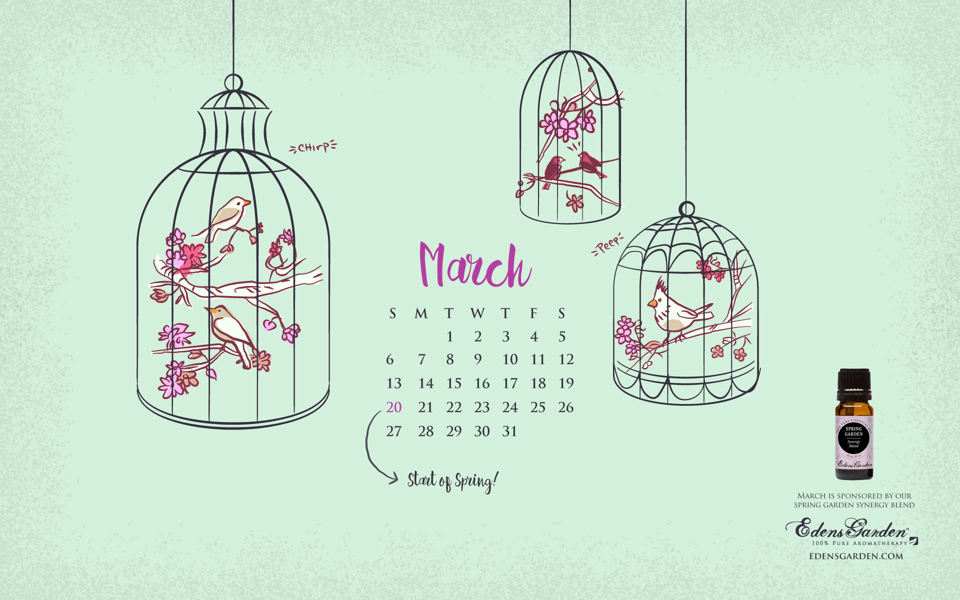 March calendar wallpaper   SF Wallpaper 1920x1200