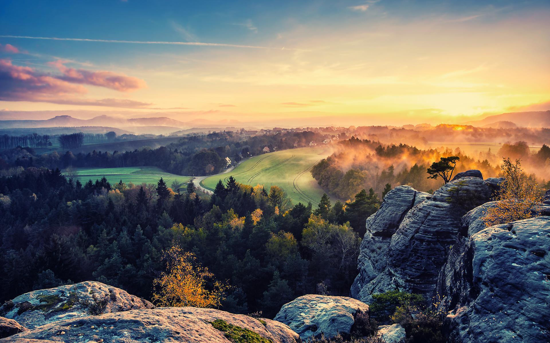 Valley sunset 7017053 1920x1200