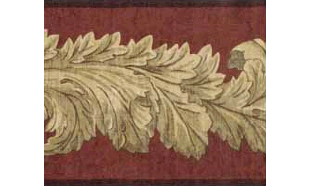 Home Dark Brown Leaf Molding Wallpaper Border 1000x600