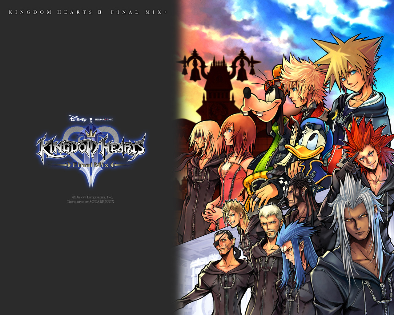 Kingdom Hearts II Final Mix on the horizon 1280x1024