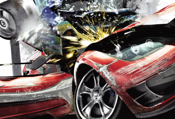 Wallpaper car race crash collision burnout paradise burnout 590x400