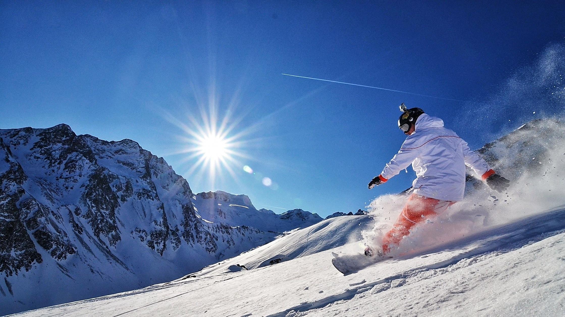 Снег на горных склонах  № 2944929  скачать