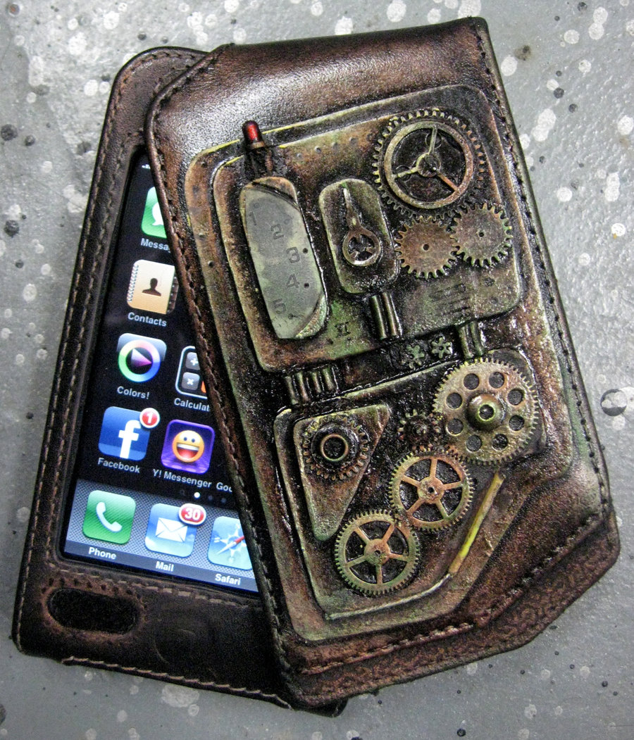 iPhone Case Steampunk feel by catbones 900x1051