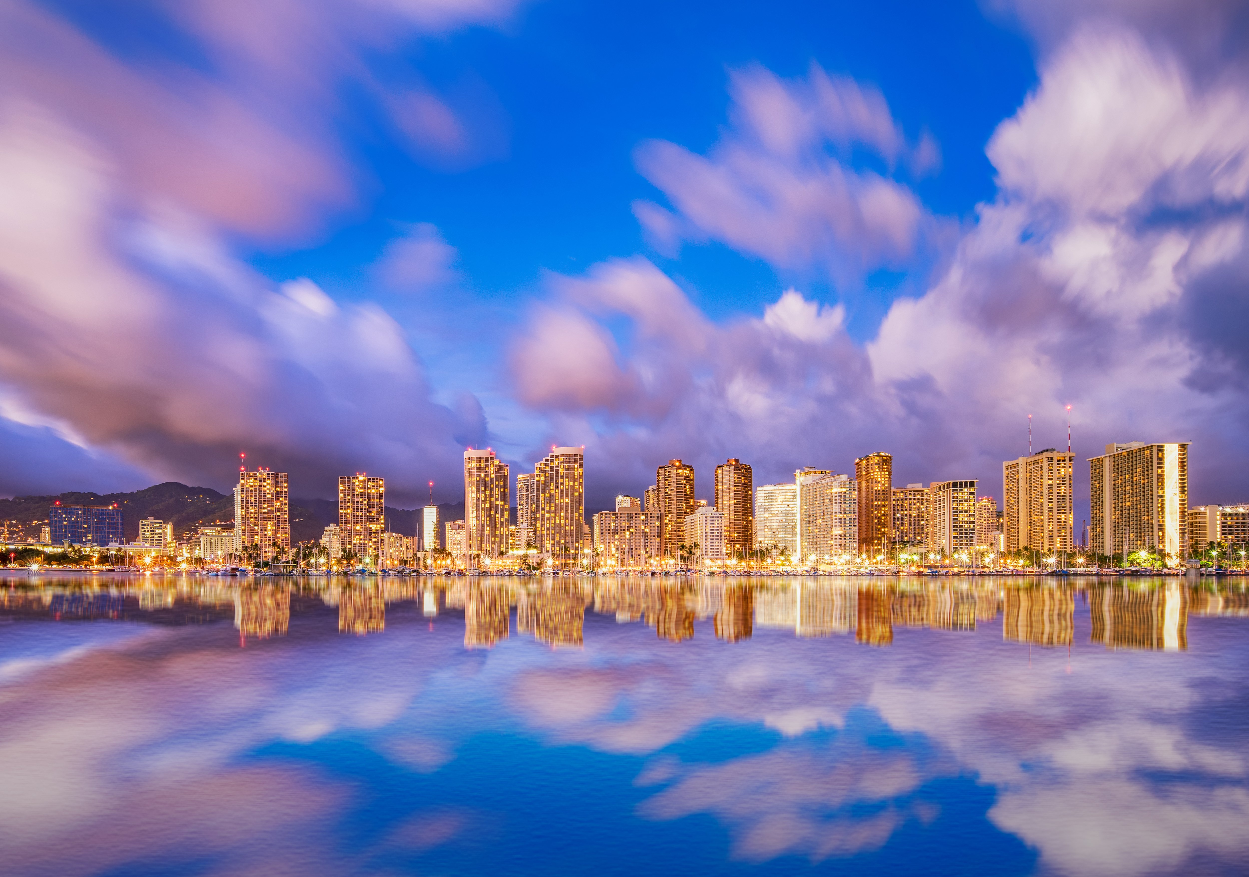 Waikiki Sunset 4k Ultra HD Wallpaper Background Image 5000x3511