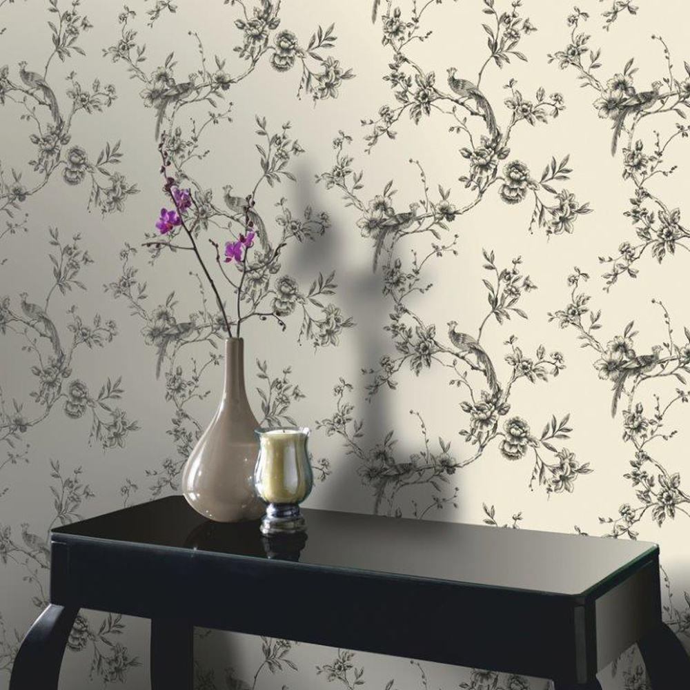 Free Download Arthouse Opera Chinoise Floral Pattern Songbird