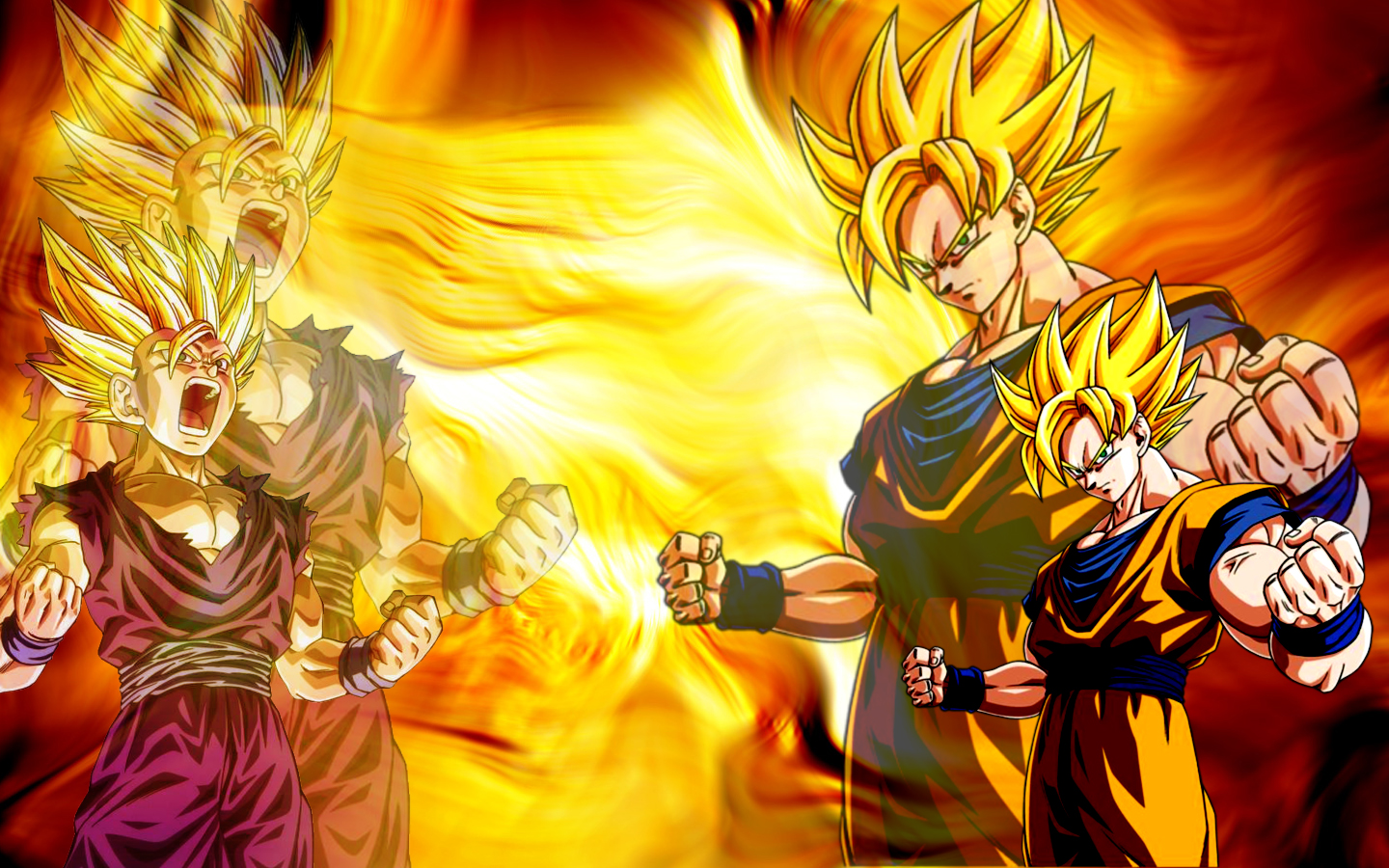 Dragon Ball Z Goku amp Gohan Wallpaper 1440x900
