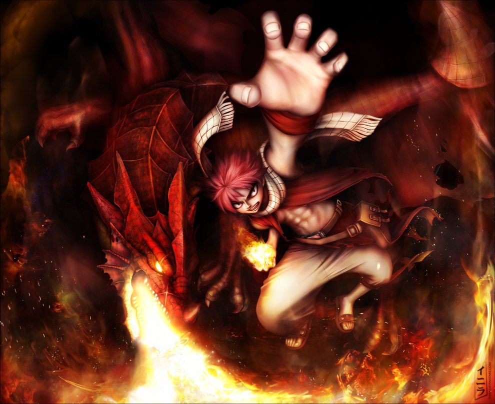Fairy Tail Igneel and Natsu by Inira 990x807