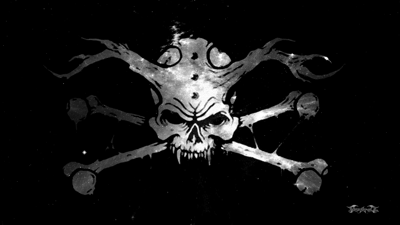 Free Download Wallpaper Of Skull And Crossbones 1366x768 For