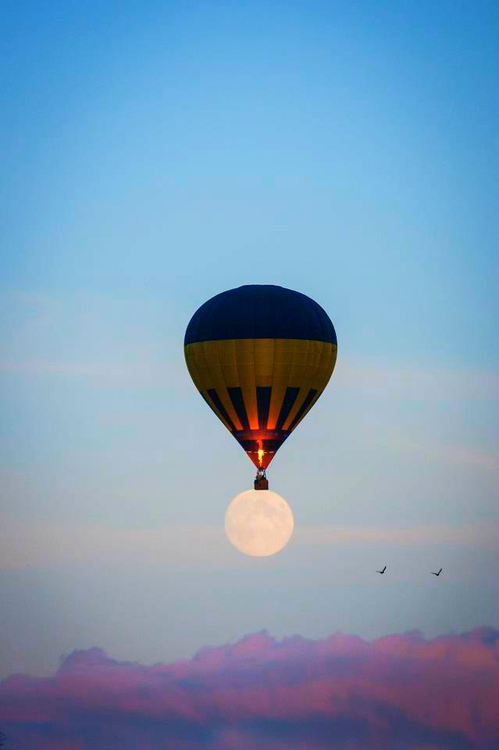 Vintage Hot Air Balloon Wallpaper Amazing Moon Photography 499x750