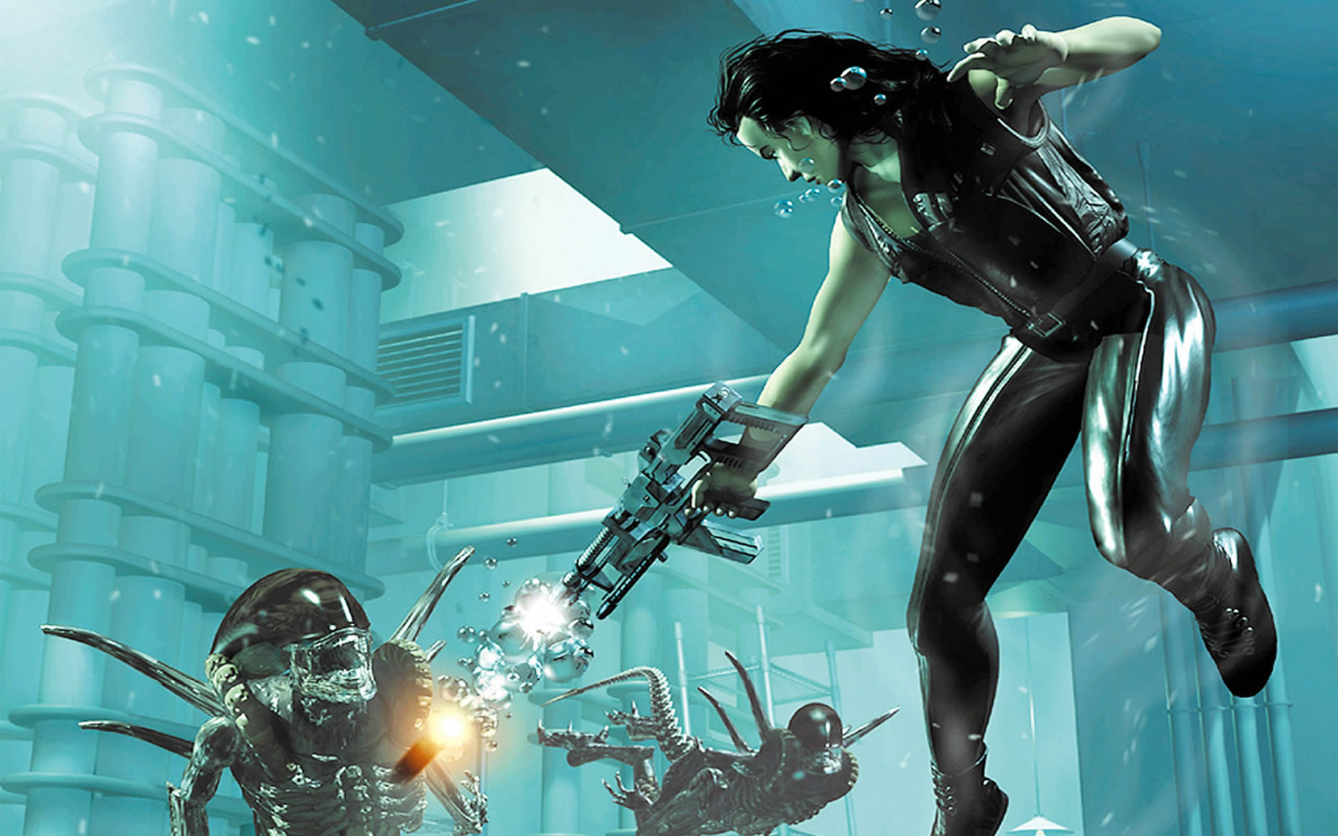 Alien Resurrection Underwater Alien Attack 1920x1200
