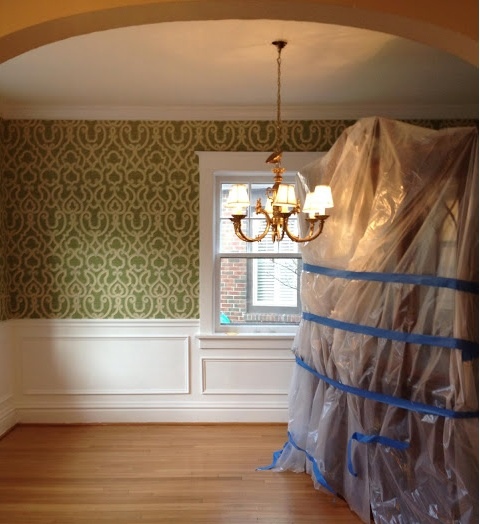 Wainscoting and wallpaper For the Home Pinterest 480x524