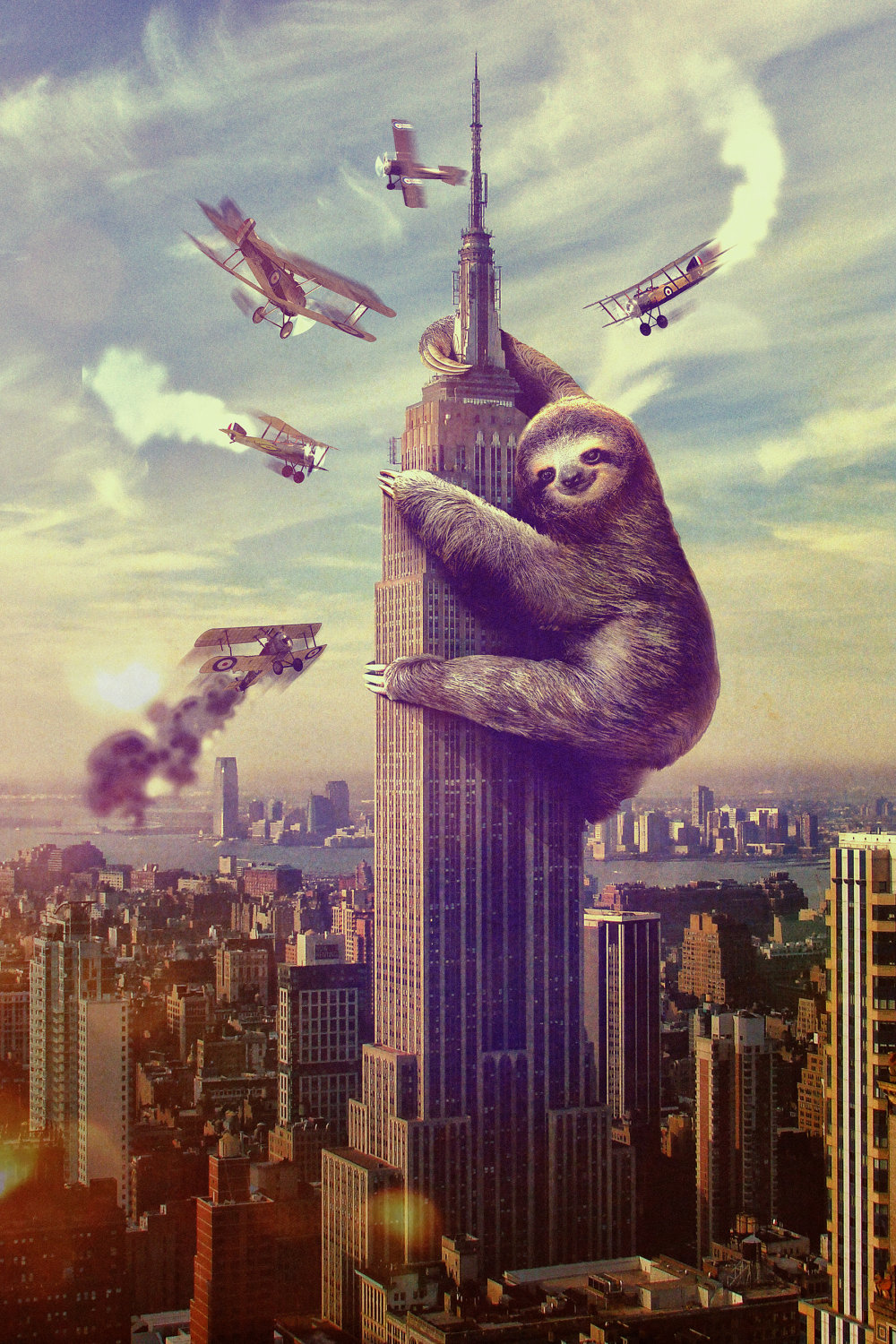 Sloth King Kong Empire State Building Slothzilla King Kong movies 1000x1500