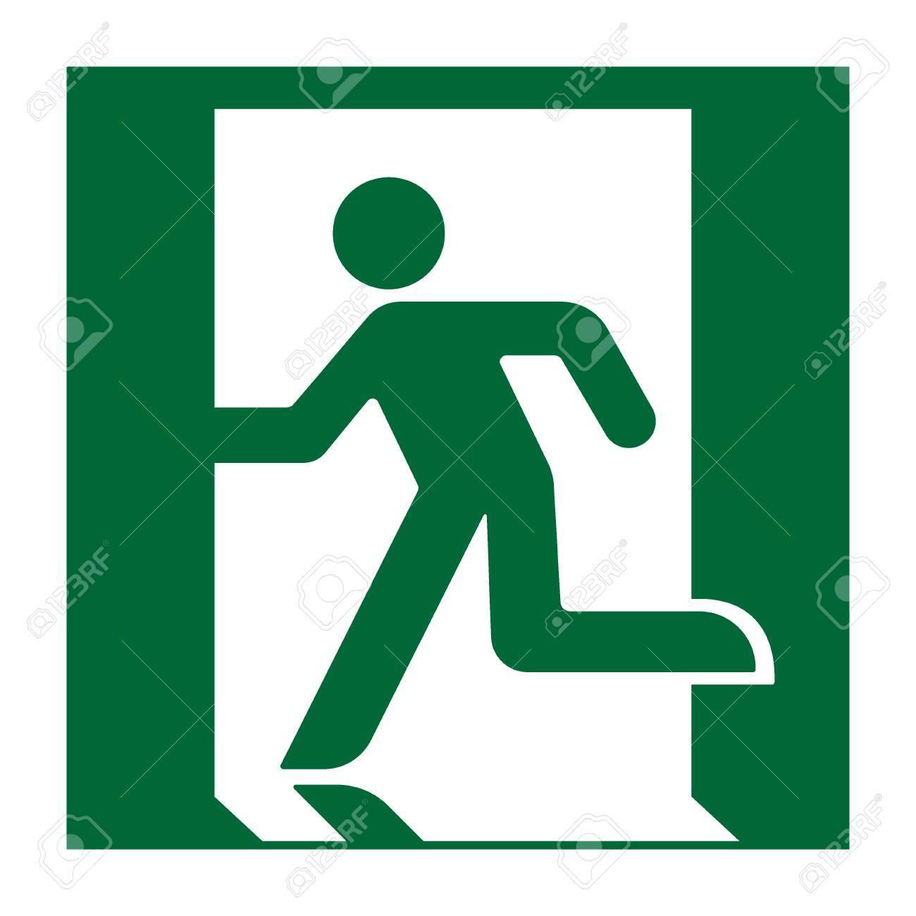 Exit Sign Emergency Fire Exit Door And Exit Door Green Icon 1300x1300