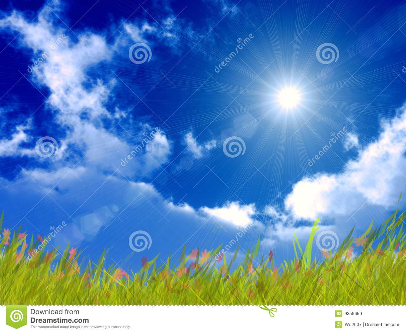 Bright Sunny Day Wallpaper - WallpaperSafari