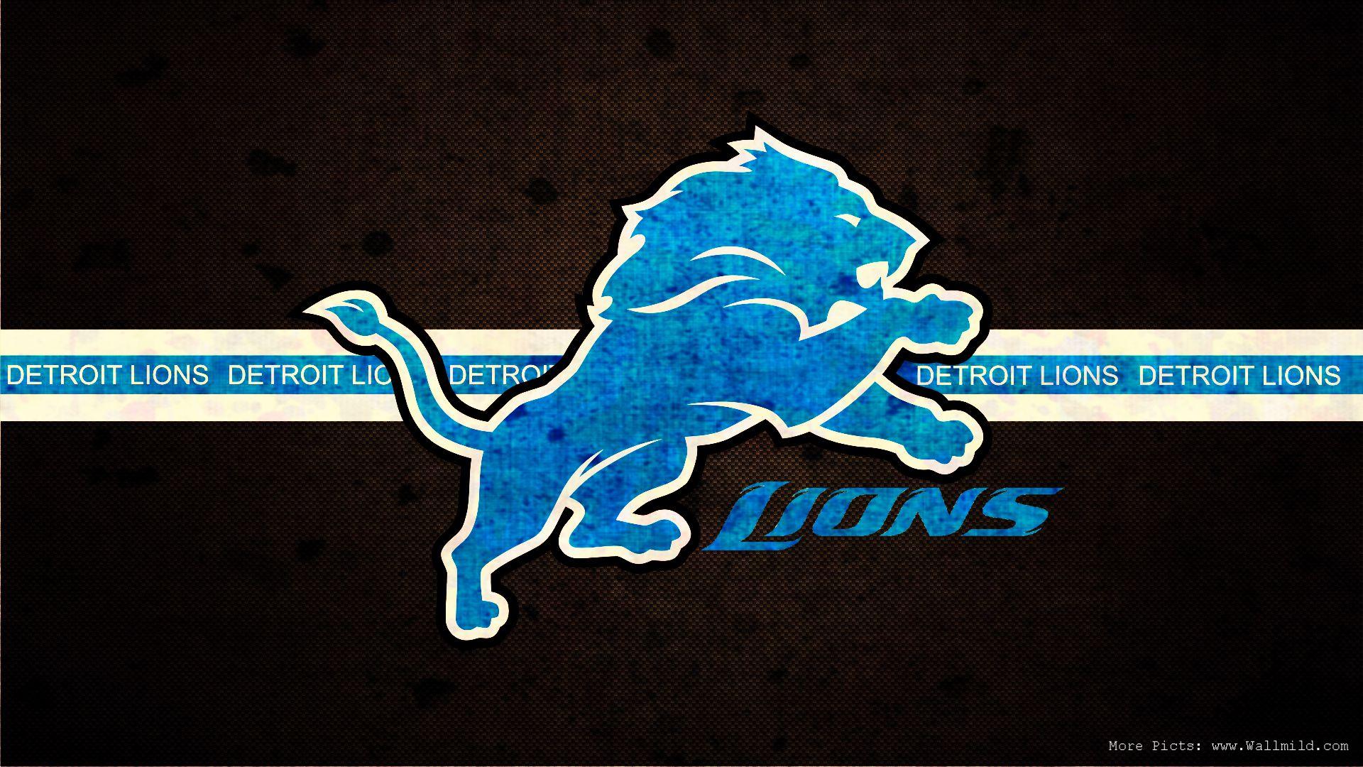 Detroit Lions Logo NFL Background 1920x1080