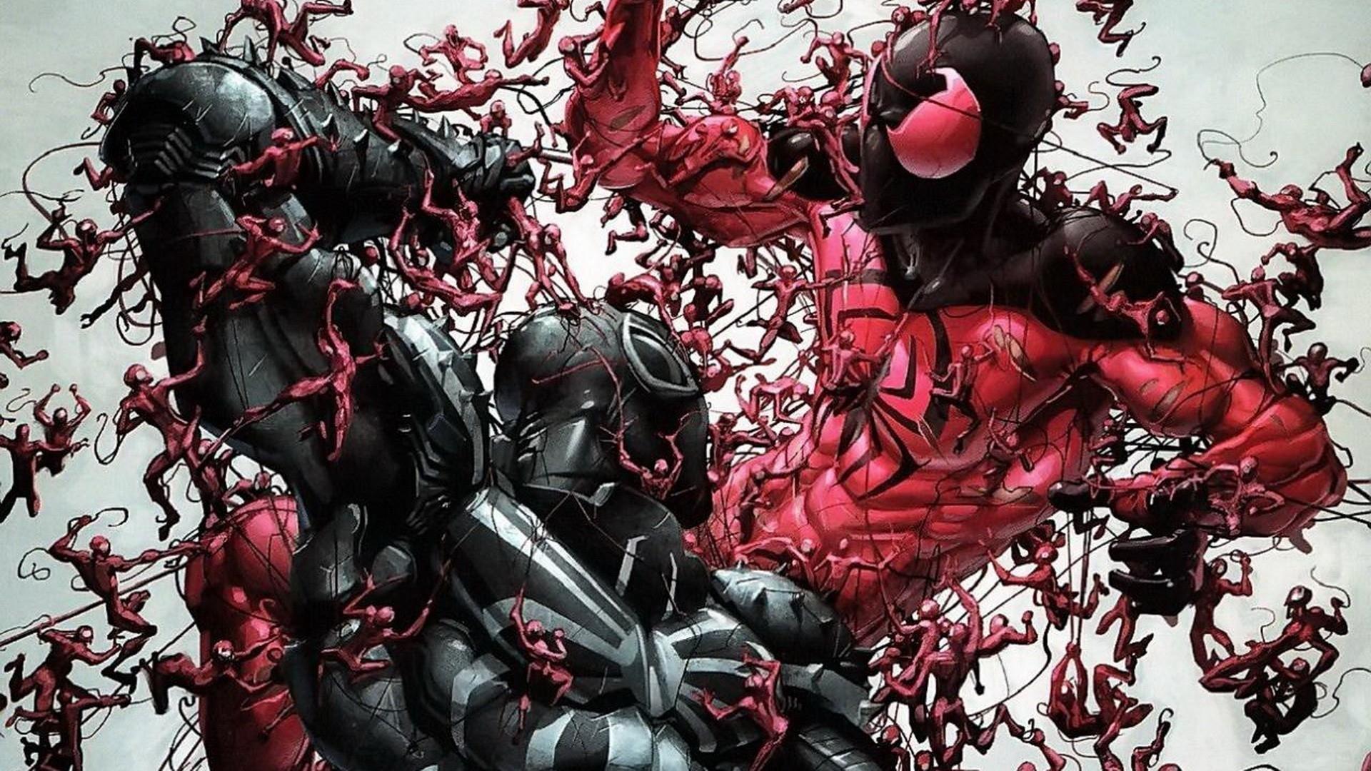 carnage marvel comics marvel scarlet spider 1920x1080 wallpaper Art HD 1920x1080