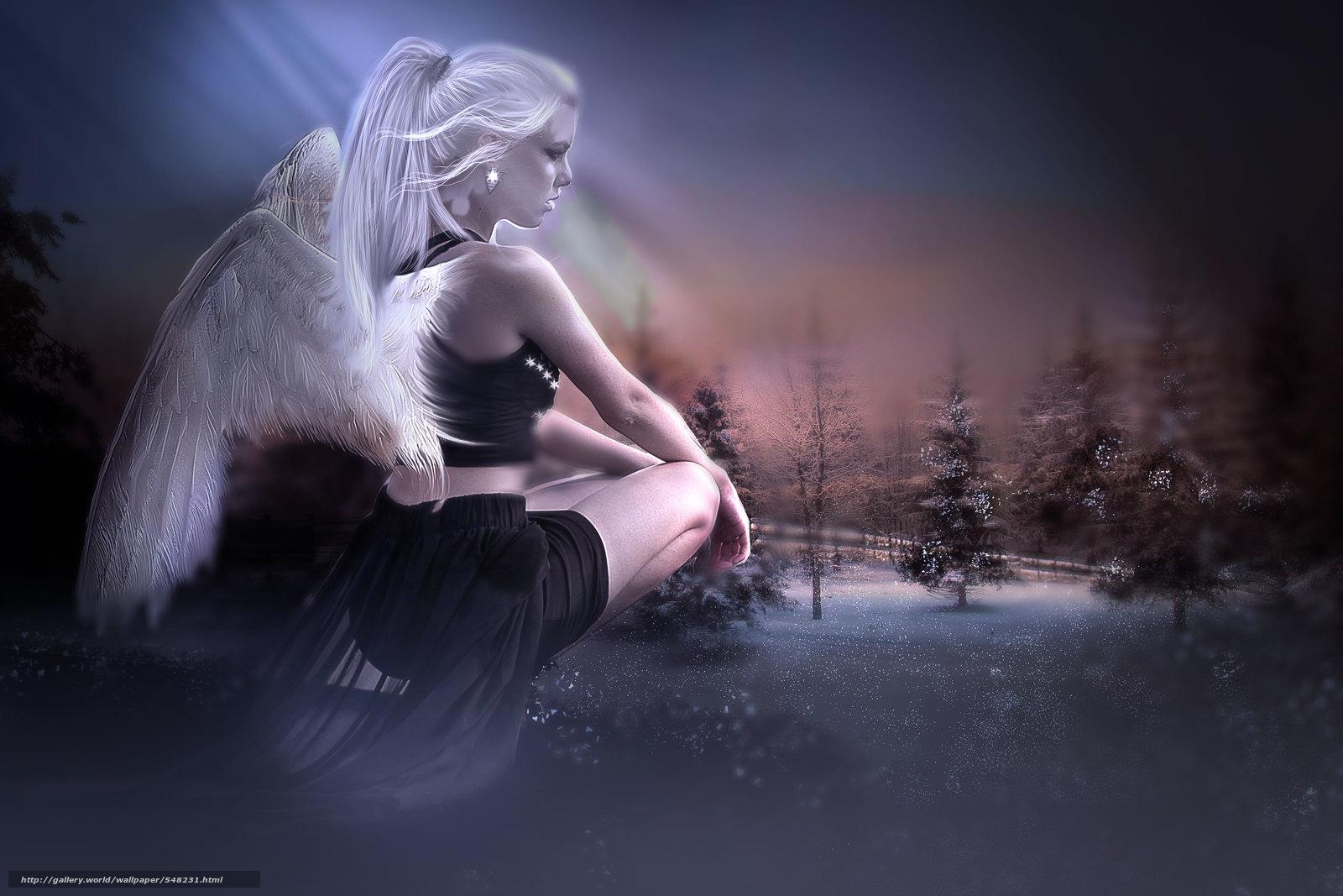 Download wallpaper girl angel 3d desktop wallpaper in the 1600x1067