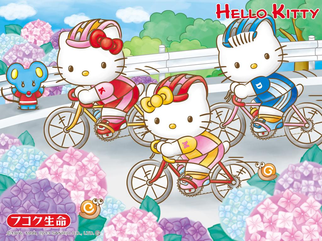 Free Download Hello Kitty Cycling Sanrio Wallpaper Hello Kitty