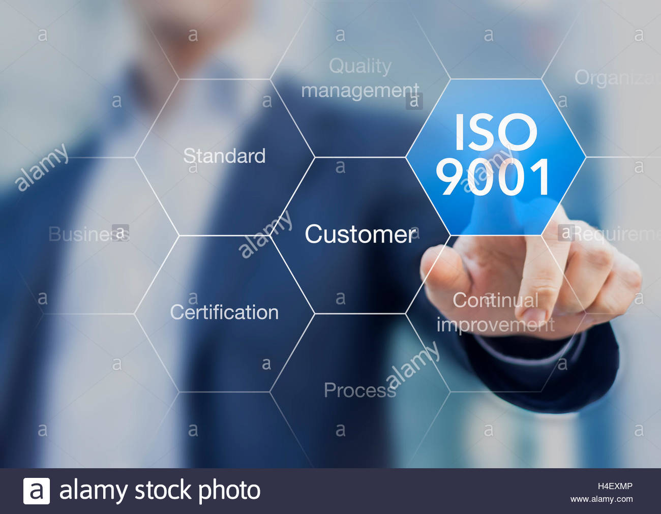 ISO 9001 standard for quality management of organizations with an 1300x1011