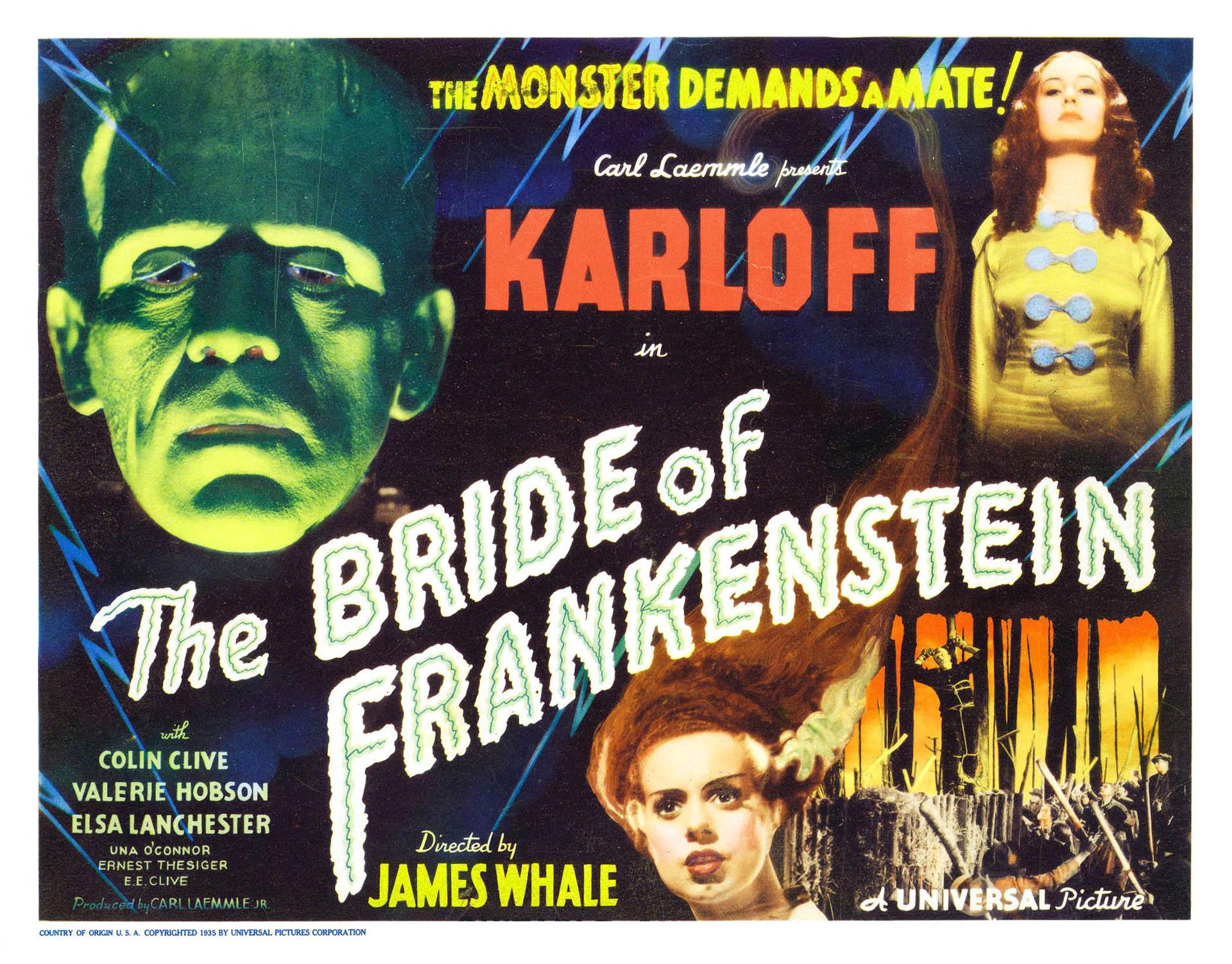 Bride Of Frankenstein Landscape 2   Vintage 1930s Movie Posters 1920x1503