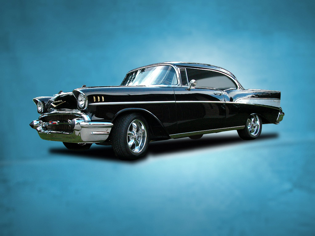 Car wallpaper download red 57 chevy cars Chevrolet classic car 1024x768