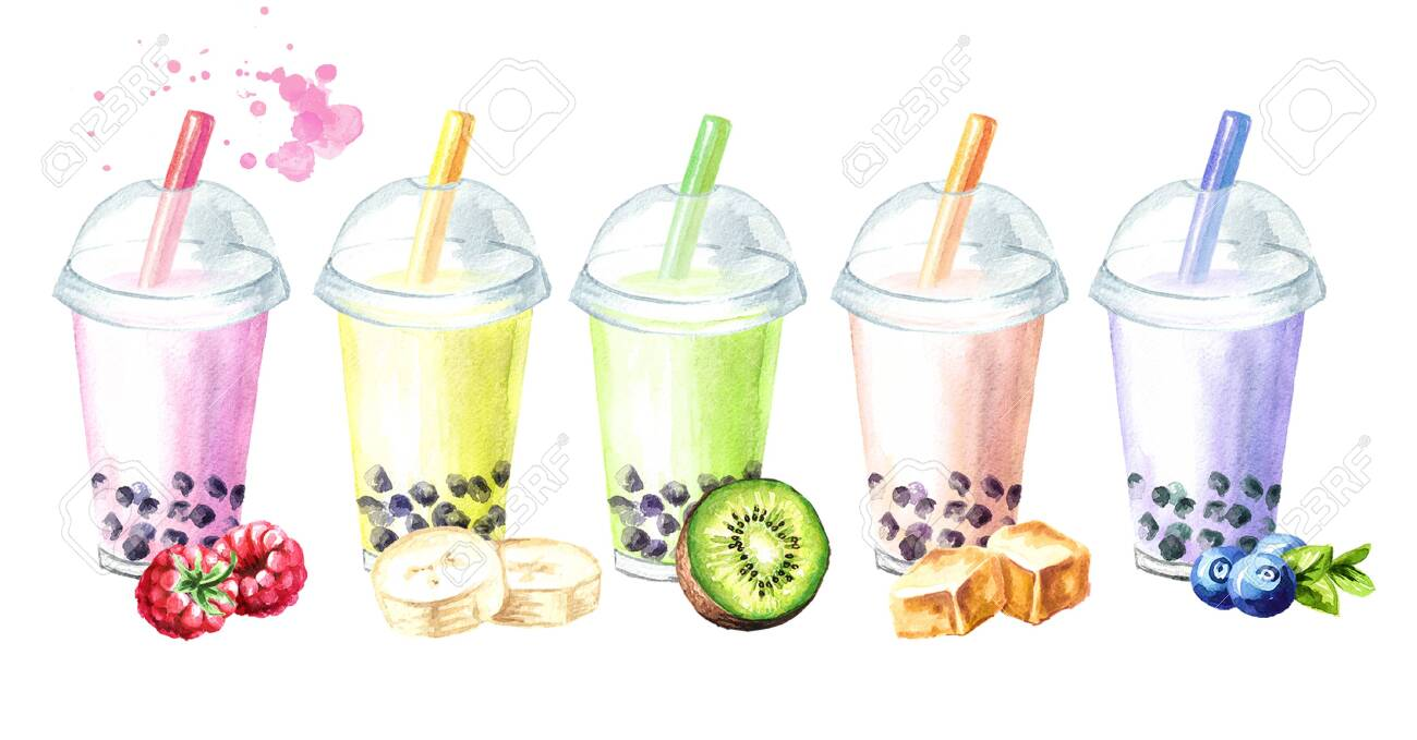 Refreshing Fruit Milky Bubble Boba Tea Flavors With Tapioca Pearls 1300x679
