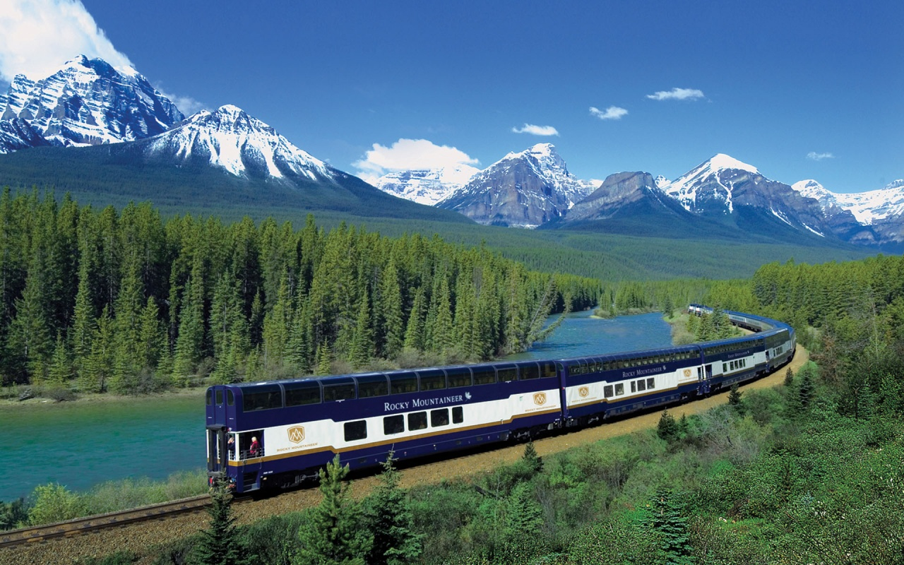 Canadian Rockies Train   HD Wallpapers Widescreen   1280x800 1280x800
