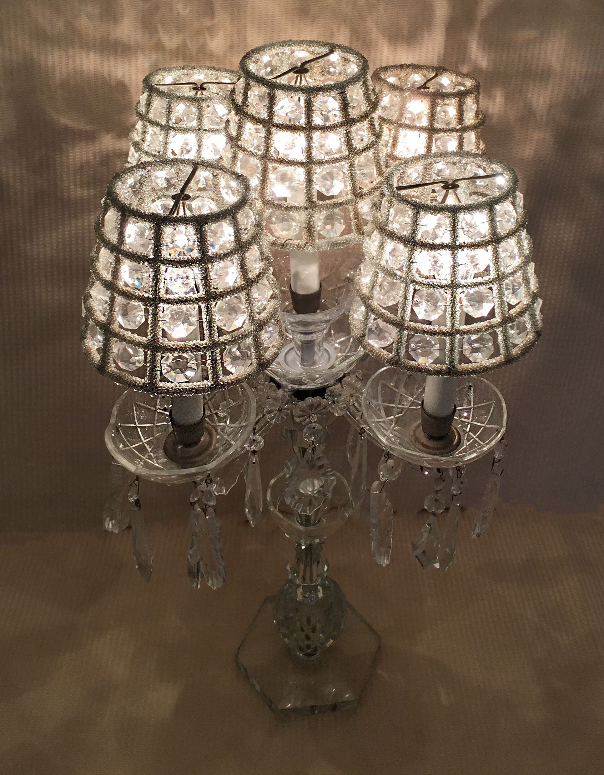 Cut crystal lamp with crystal shades from Jan Wolf Studio 1932x2480