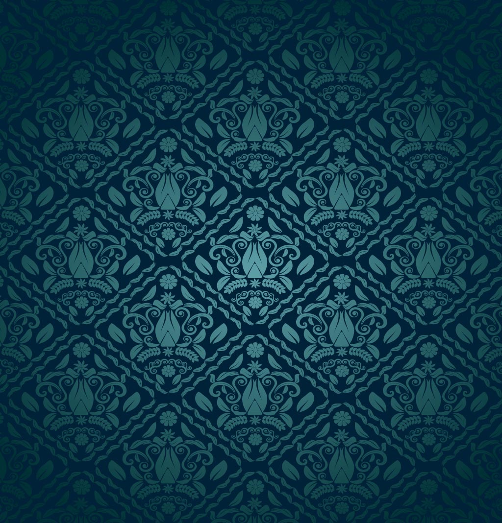 Blue Green Decorative Pattern 1024x1068