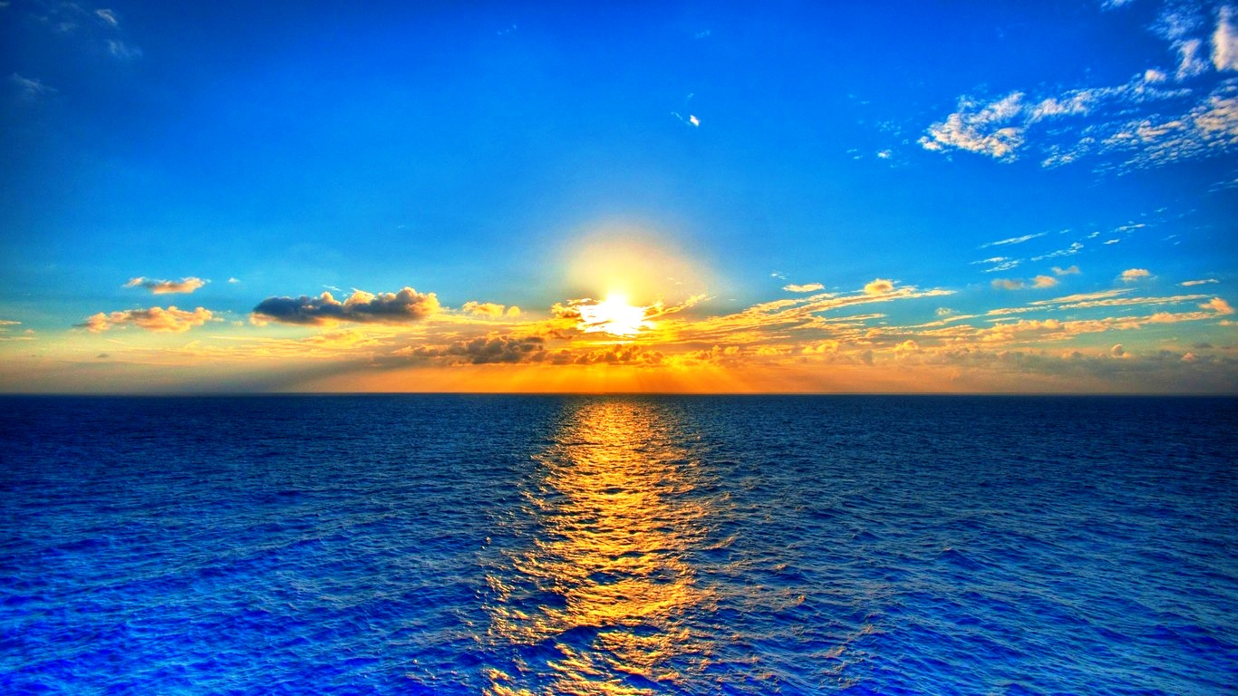 Widescreen Nature Wallpapers High Resolution Beautiful Ocean photos of 1366x768