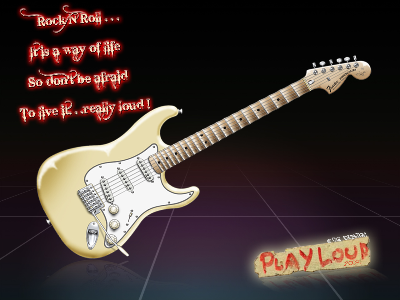 RG350 Wallpaper Guitar Drawing Tutorial FENDER Stratocaster 1280x960
