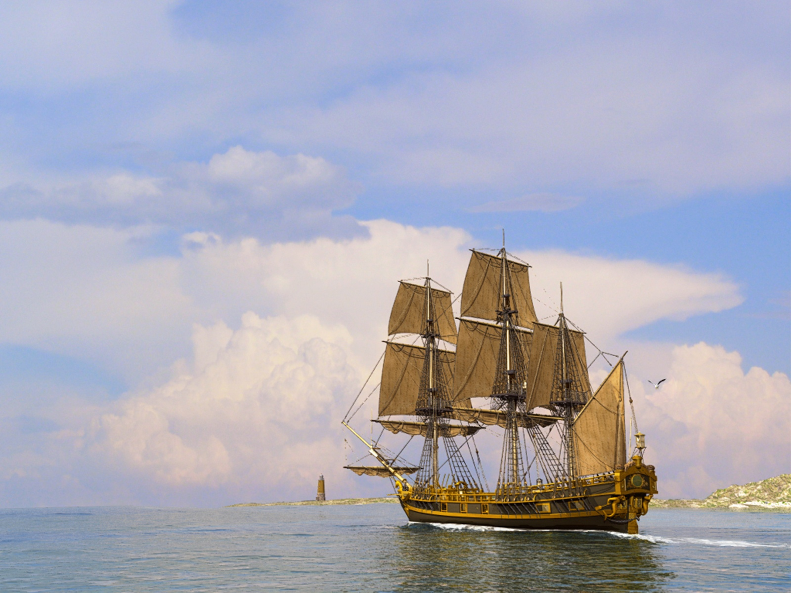decoration 3D Sailing Ship 1600 x 1200 Pixel HD Wallpapers 1600x1200
